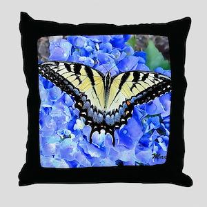 Eastern Yellow Tiger Swallowtail Butt Throw Pillow