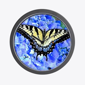 Eastern Yellow Tiger Swallowtail Butter Wall Clock