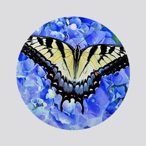 Eastern Yellow Tiger Swallowtail Bu Round Ornament