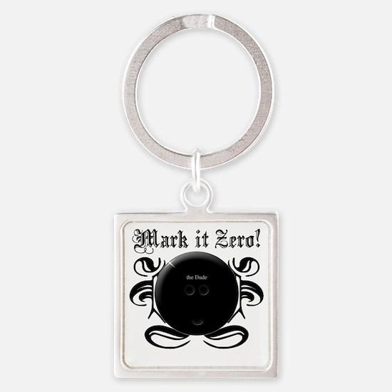 MarkIt_Black Square Keychain