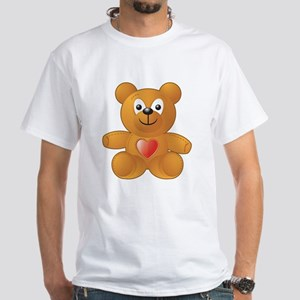 Teddy Heart White T-Shirt