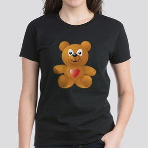 Teddy Heart Women's Dark T-Shirt