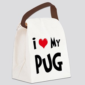 I-Love-My-Pug Canvas Lunch Bag