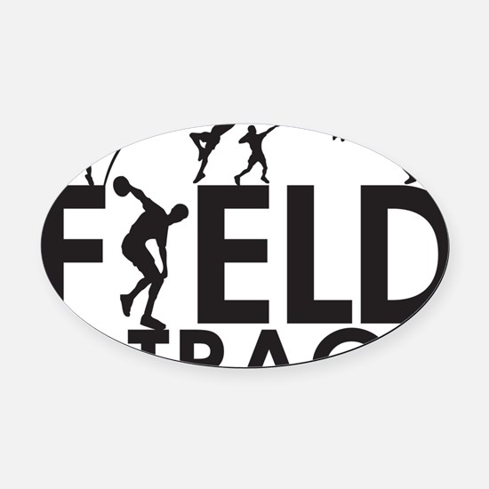 FieldandTrack Oval Car Magnet
