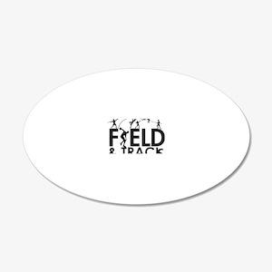 FieldandTrack 20x12 Oval Wall Decal