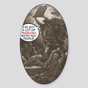 moses_card Sticker (Oval)