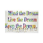Live the Dream Rectangle Magnet (100 pack)