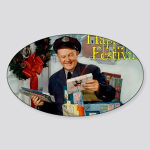 postman_FESTIVUS™_card Sticker (Oval)