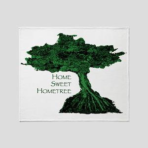 Home Sweet Hometree Throw Blanket