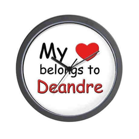 My heart belongs to deandre Wall Clock