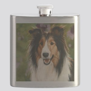 Shetland Sheepdog Flask