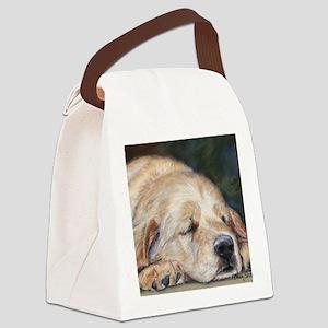 Sleeping Golden Retriever Canvas Lunch Bag