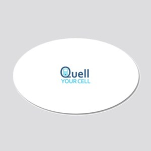 Quell-Larger 20x12 Oval Wall Decal