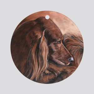 Irish Setter Sleeping Round Ornament