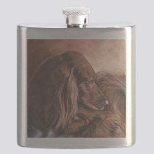 Irish Setter Sleeping Flask