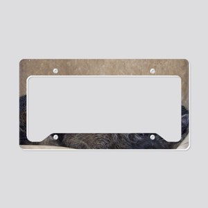 puppytexturethree License Plate Holder