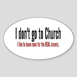 FREE THINKER Oval Sticker