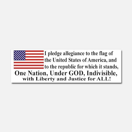 Pledge of allegiance Car Magnet 10 x 3