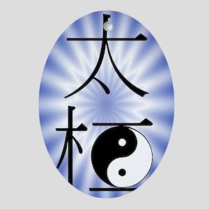 TaiChi4gtcard Oval Ornament