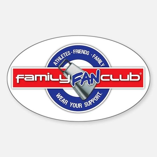 familyFanClub5000px Sticker (Oval)