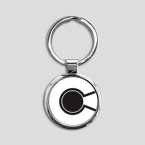 2-colorado C Round Keychain