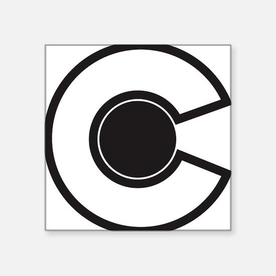"2-colorado C Square Sticker 3"" x 3"""