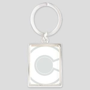 2-colorado white Portrait Keychain