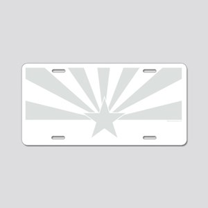 arizona white Aluminum License Plate