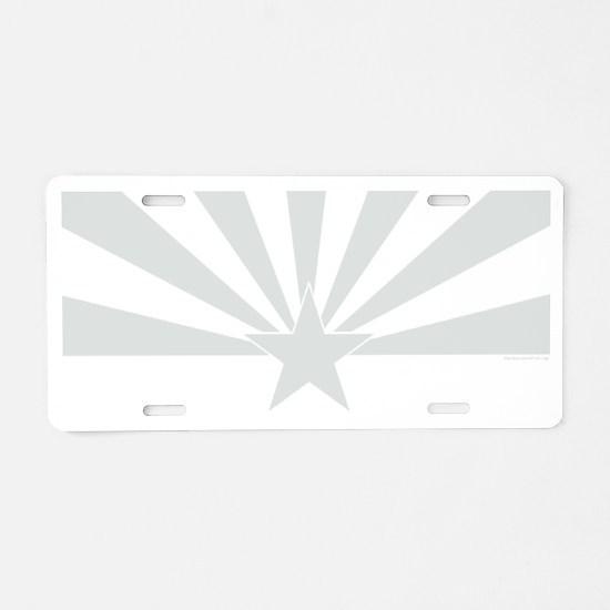 arizona white Aluminum License Plate