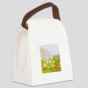 Mighty Bee: Beekeeping Paradise Canvas Lunch Bag