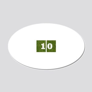 10th bday GCard 20x12 Oval Wall Decal