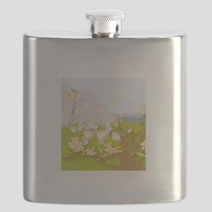 Mighty Bee: Beekeeping Paradise Flask