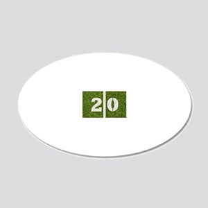 20th bday GCard 20x12 Oval Wall Decal