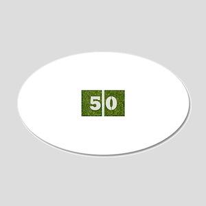 50th bday Gcard 20x12 Oval Wall Decal