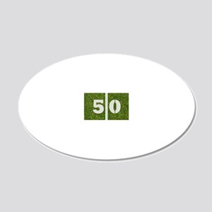 50th bday Pcard 20x12 Oval Wall Decal