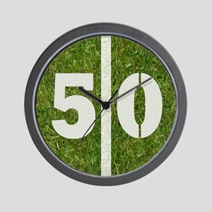 50th bday 6x6 Wall Clock