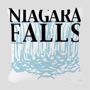 Niagra Falls Woven Throw Pillow