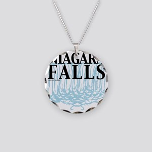 Niagra Falls Necklace Circle Charm
