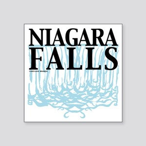 "Niagra Falls Square Sticker 3"" x 3"""