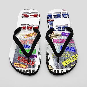 ALL HEROES Flip Flops