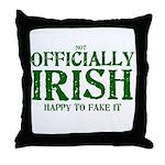 Officially Irish Throw Pillow