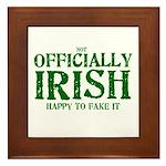 Officially Irish Framed Tile