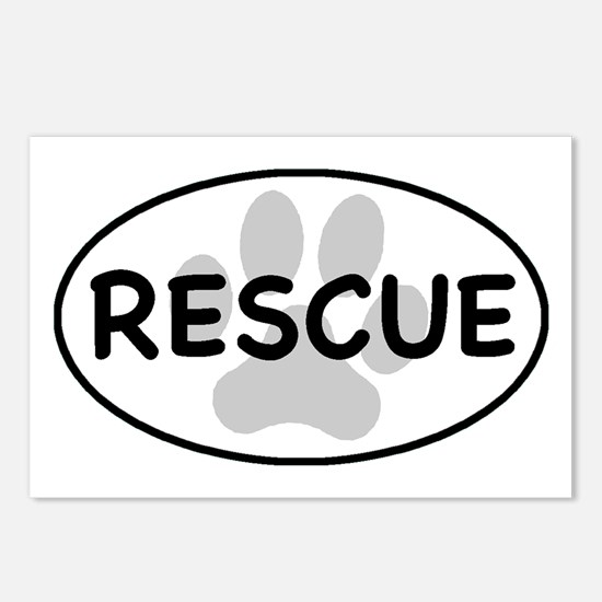 rescue paw-1 Postcards (Package of 8)