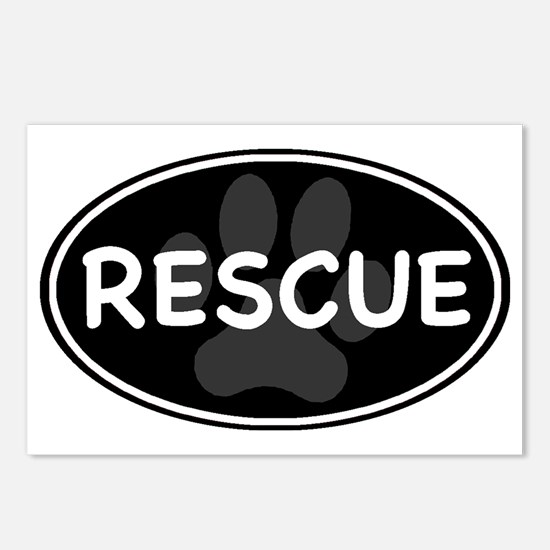 rescue paw-2 Postcards (Package of 8)