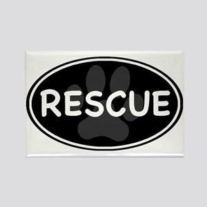 rescue paw-2 Rectangle Magnet