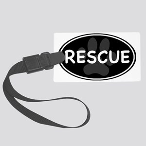 rescue paw-2 Large Luggage Tag