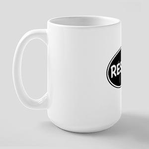 rescue paw-2 Large Mug