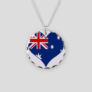 Peace Love Australia Necklace Circle Charm