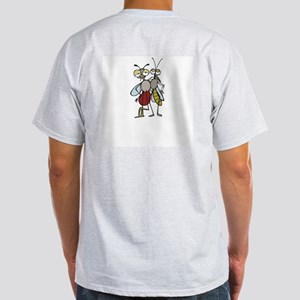 mosquito front and back Ash Grey T-Shirt