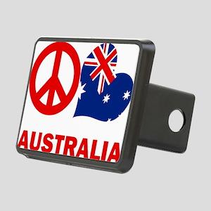 Peace Love Australia Rectangular Hitch Cover